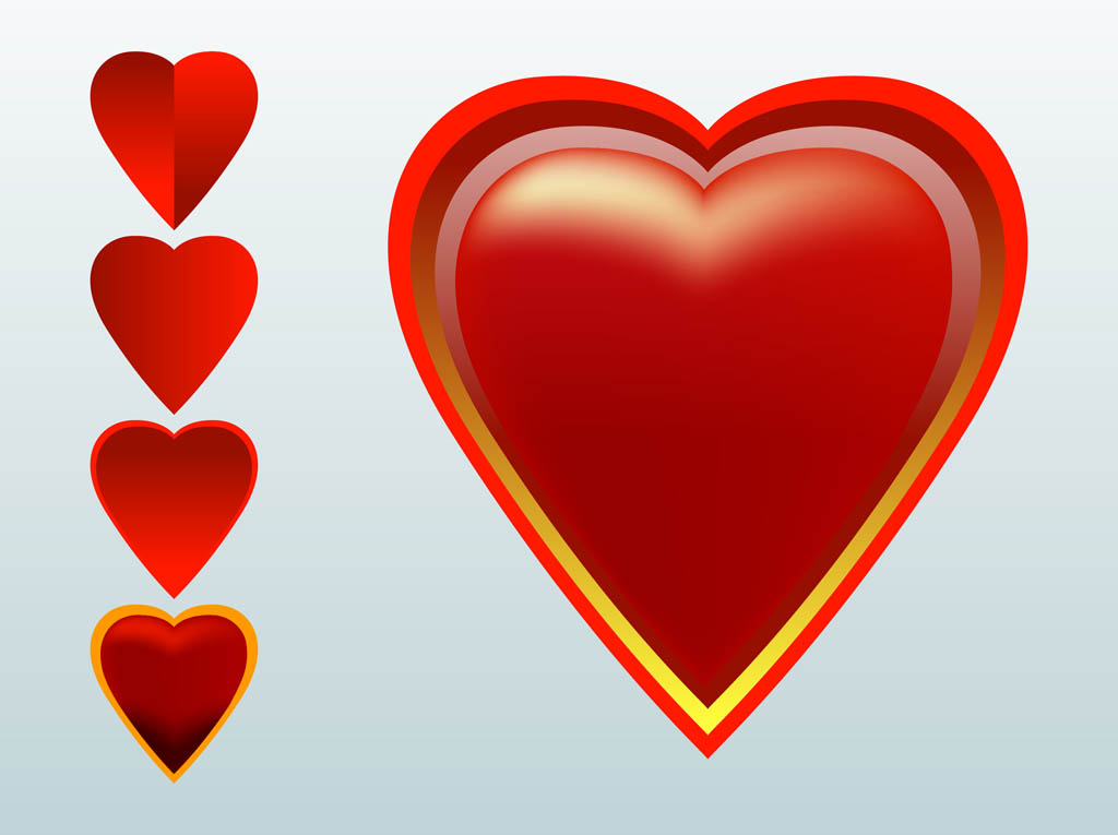 Red Hearts Vectors