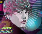 Justin Bieber World Vector