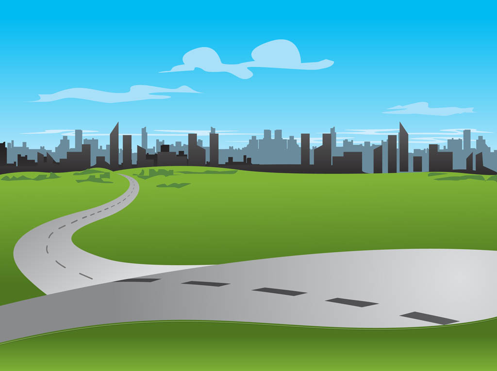 City road vector art graphics freevector