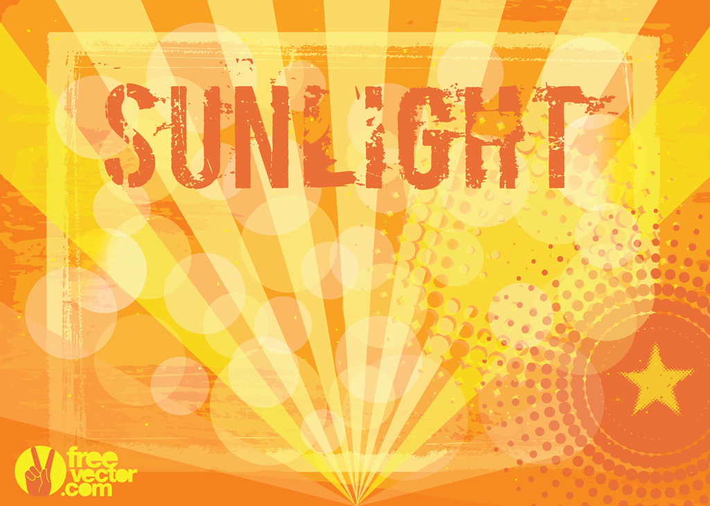 Sunlight Vector Background