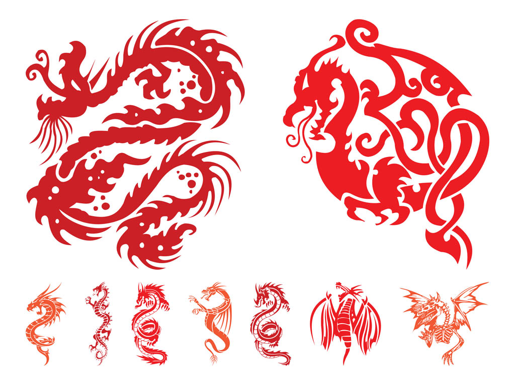Dragon Graphics Set