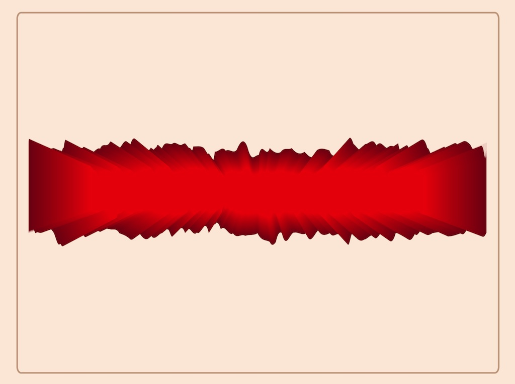 Red Abstract Label