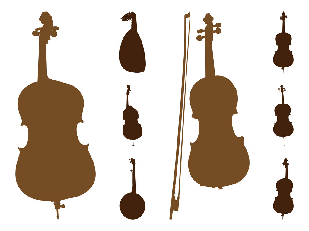 String Instruments Silhouettes
