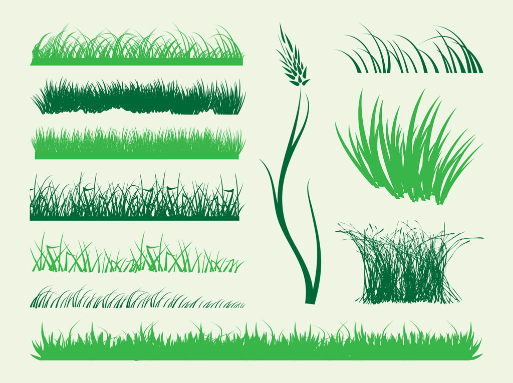 Stems Of Grass Vector