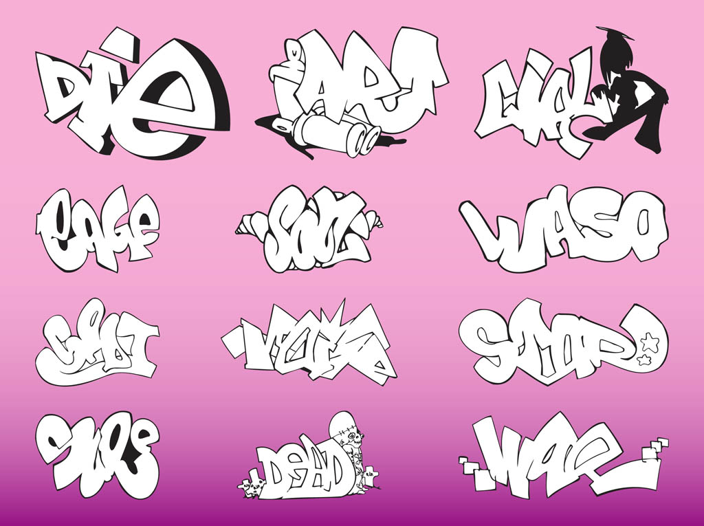 Graffiti Pieces Vector