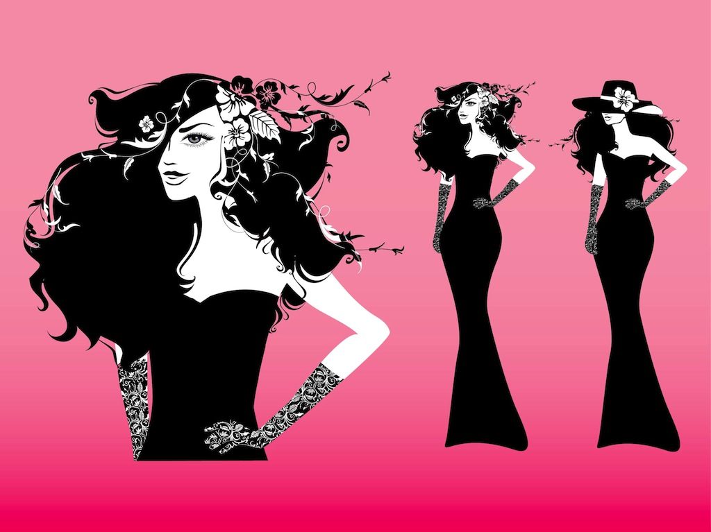 Fashion Girl Vector Vector Art Graphics