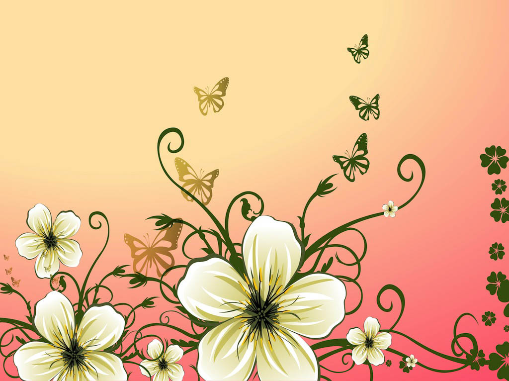 Spring Flowers Illustration Vector Art Graphics Freevector Com