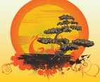 Bonsai Tree Vector