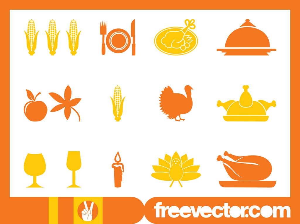 Thanksgiving Icons Set Vector Art & Graphics | freevector.com