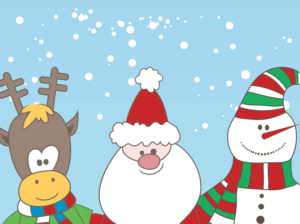 Christmas Characters Vector Vector Art