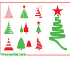 Christmas Trees Graphics Set