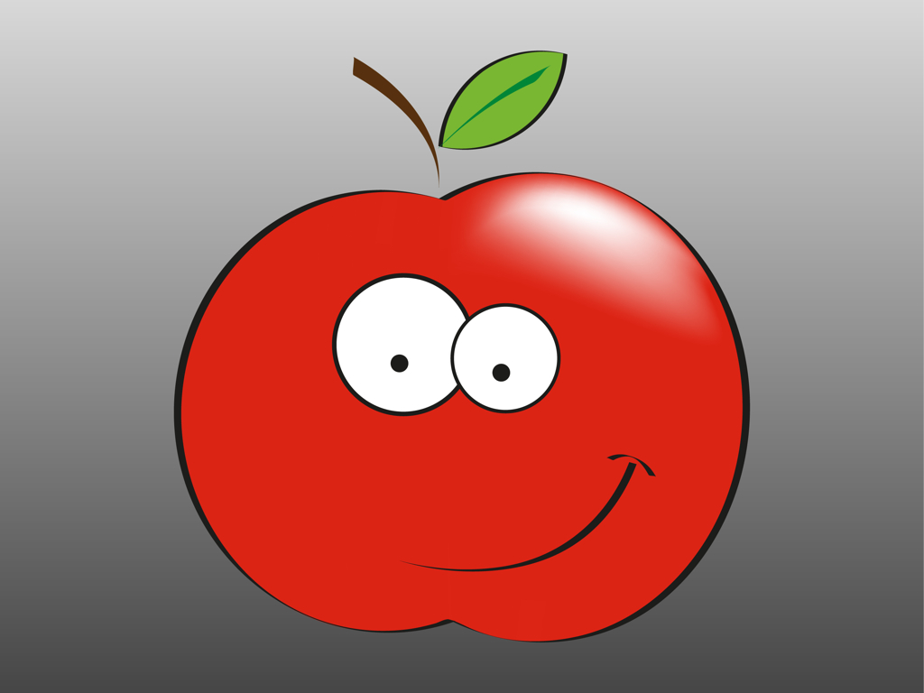 free smiling apple clipart - photo #17