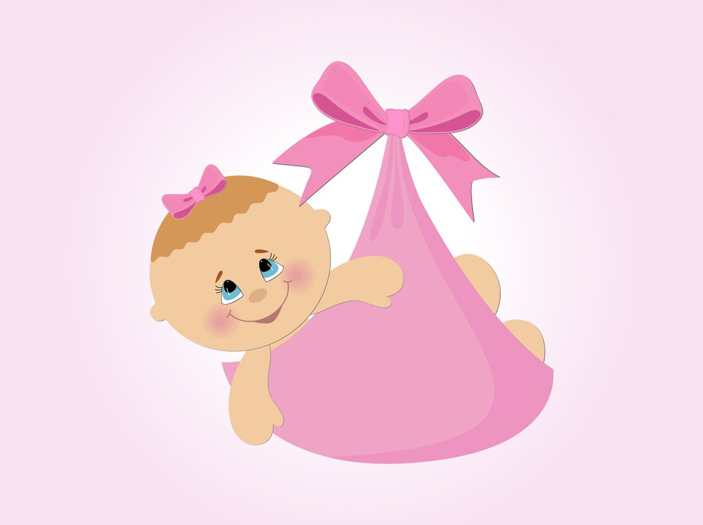 Image baby girl cartoon