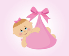 Baby Girl Vector Cartoon