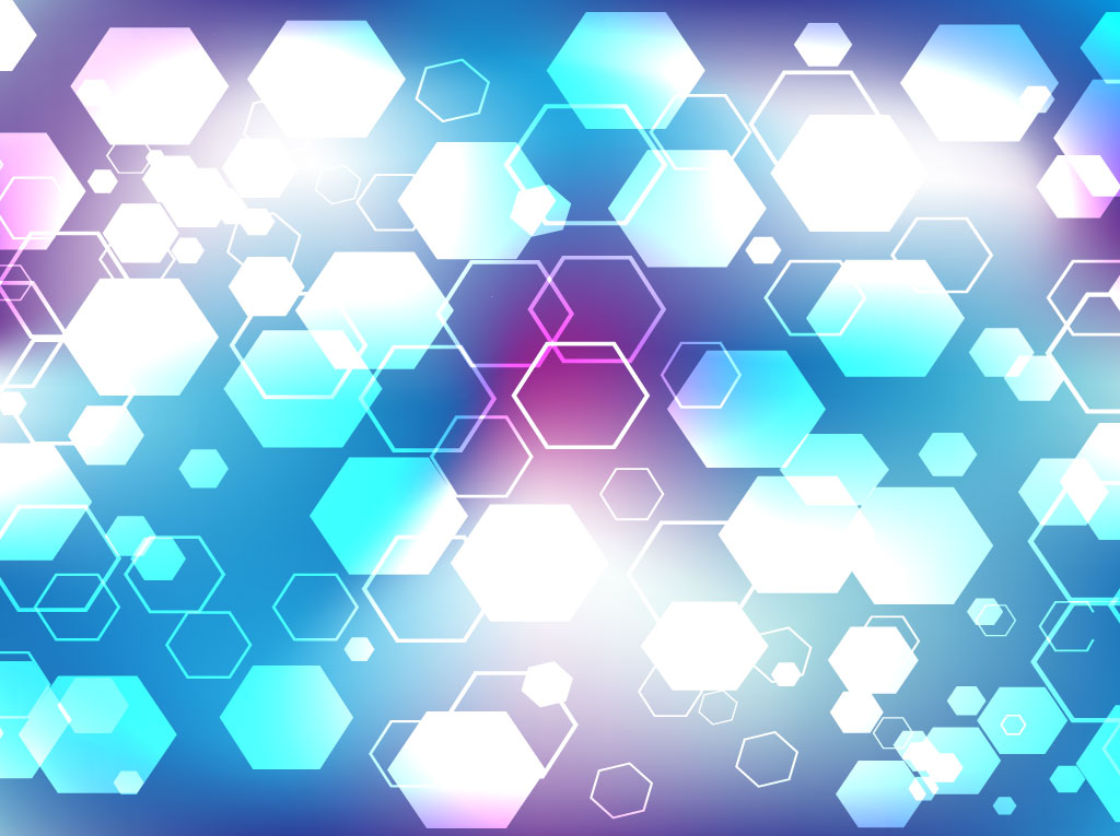 Blue Hexagon Background