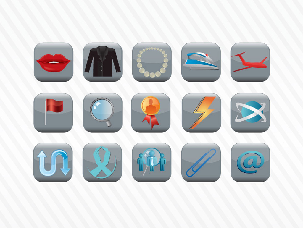 Vector Icon Button Collection