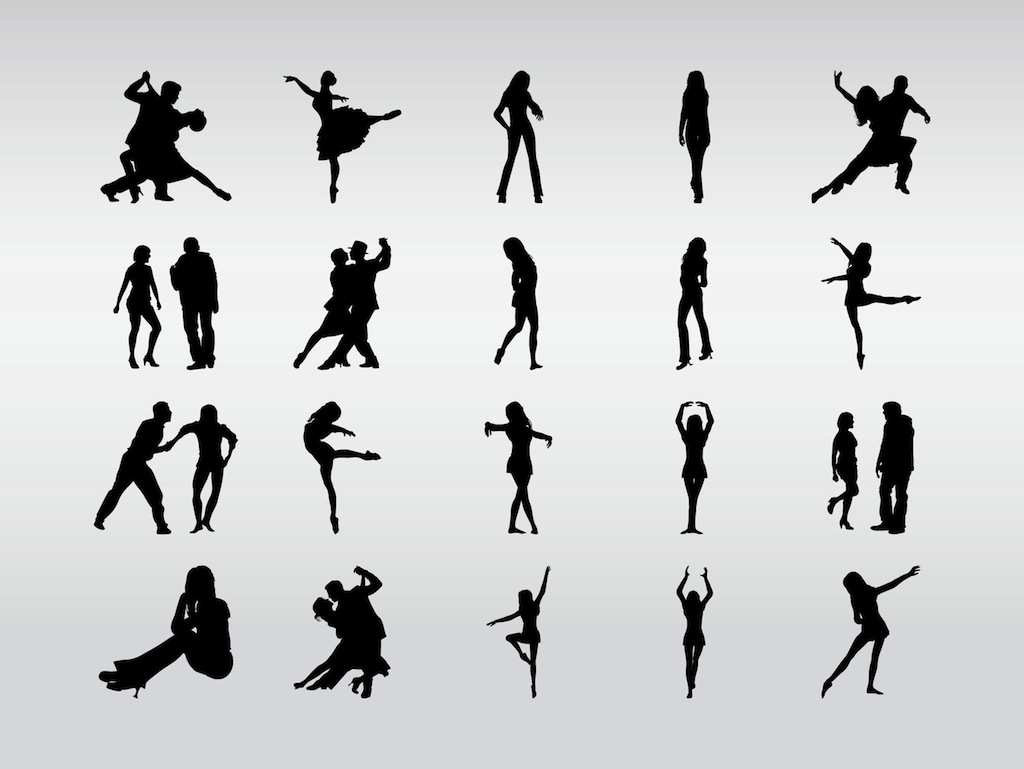 dancers silhouettes belly dancer silhouette vector jazz dancer silhouette vector