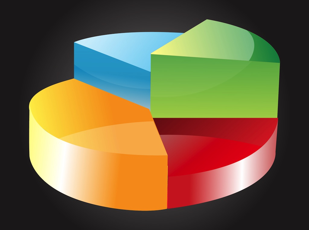 3 D Pie Chart Vector Art & Graphics | freevector.com