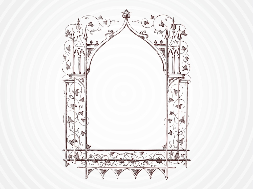 Framed Wedding Invitation with beautiful invitations template