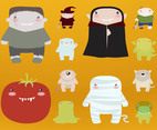 Halloween Monsters Vector