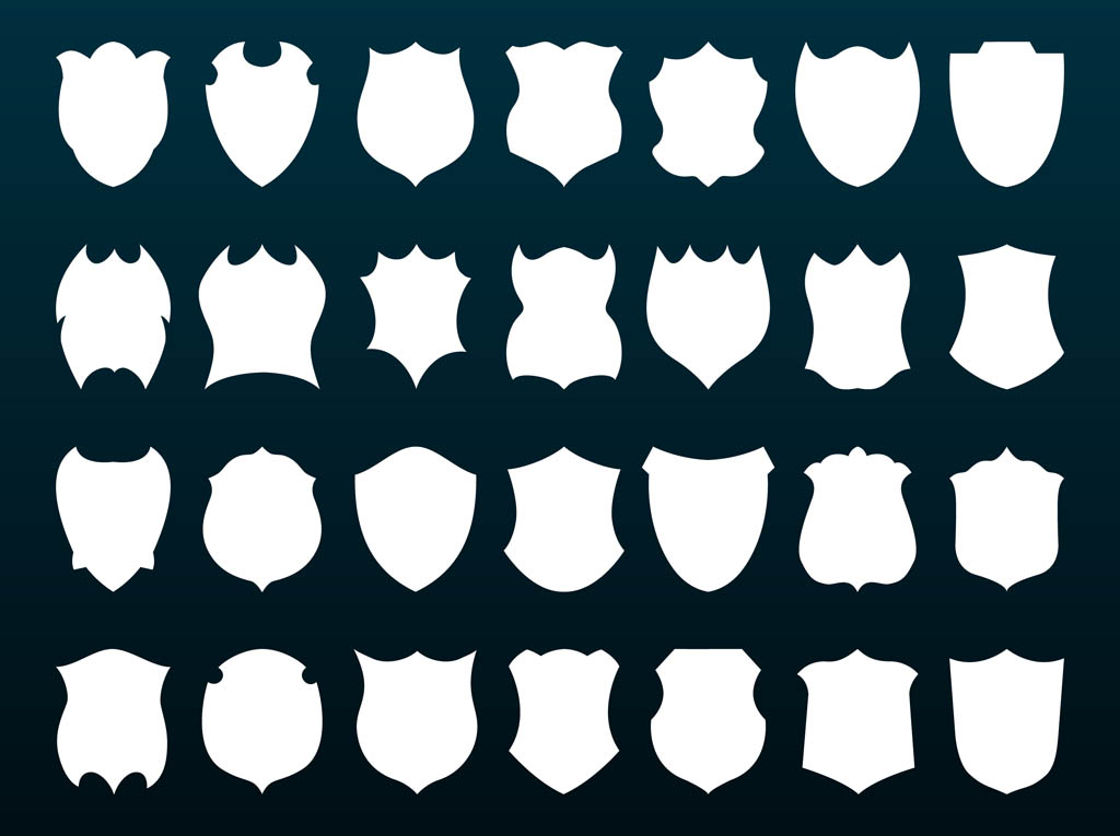 shields silhouettes vector art amp graphics freevectorcom