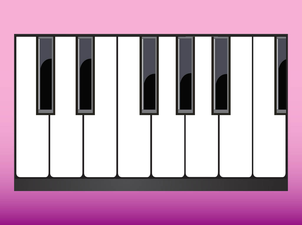 Piano Keys Vector Art Graphics
