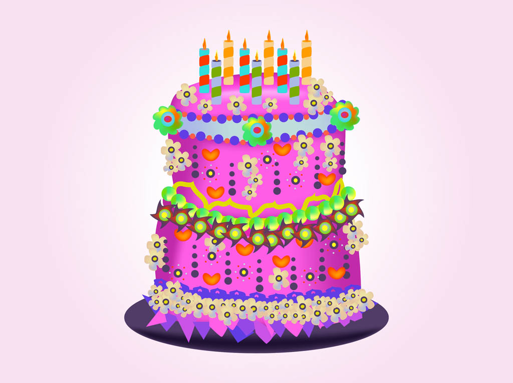 Set of Birthday cake vector material 05 Vector Birthday, Vector ...