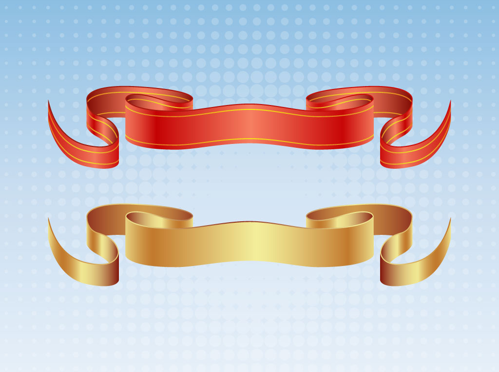 Satin Ribbon Vectors
