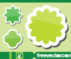 Green Flowers Stickers