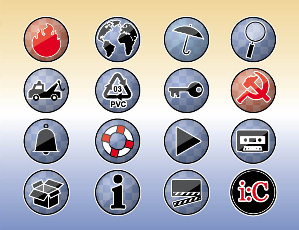 Tools Icons Buttons