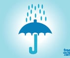 Umbrella And Rain Icon