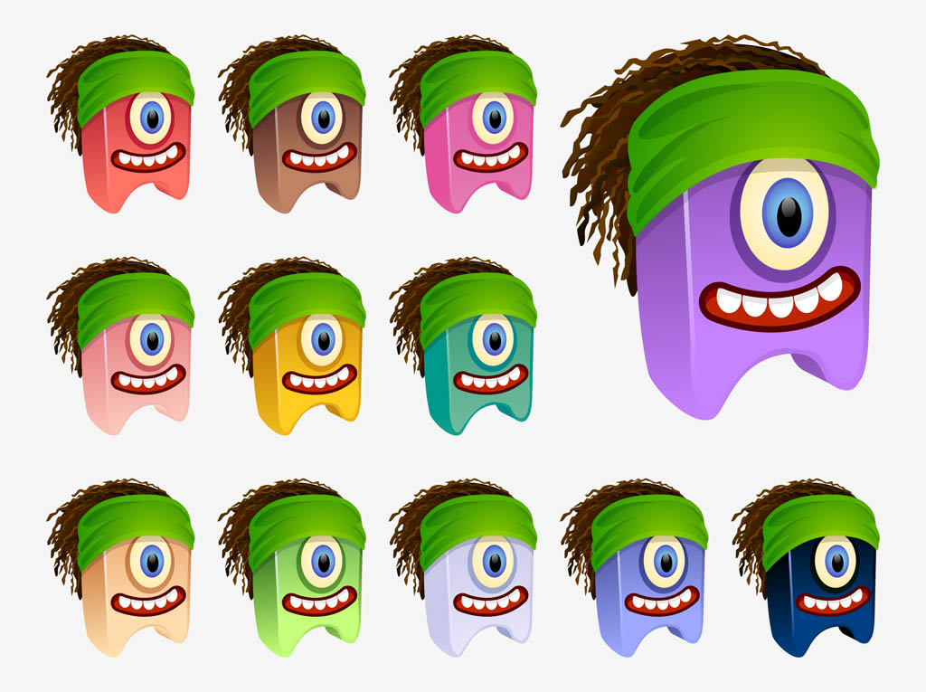 Cartoon Characters With Dreads : Vector dreadlocks characters art graphics