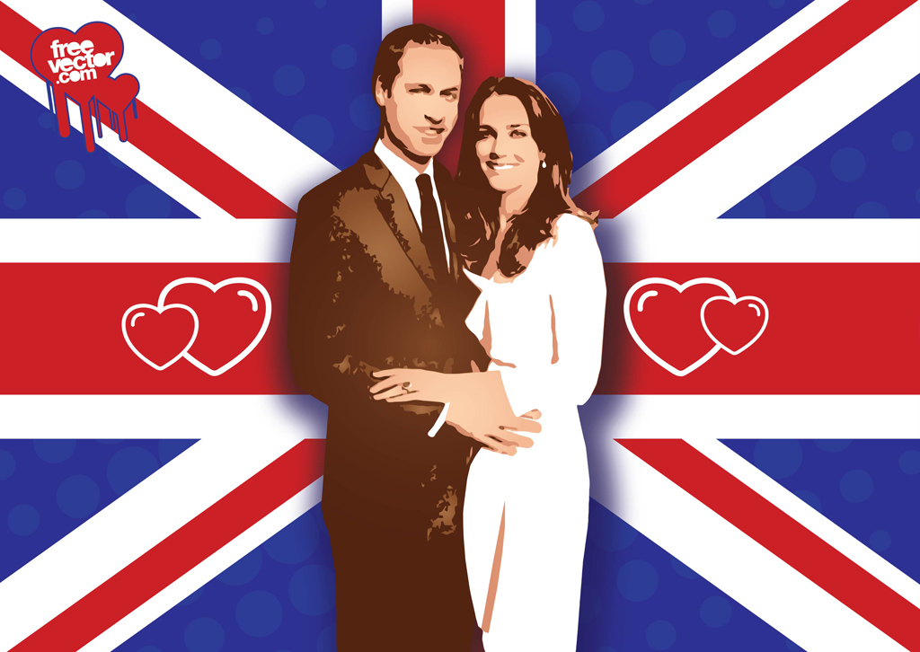 William Kate Wedding Vector
