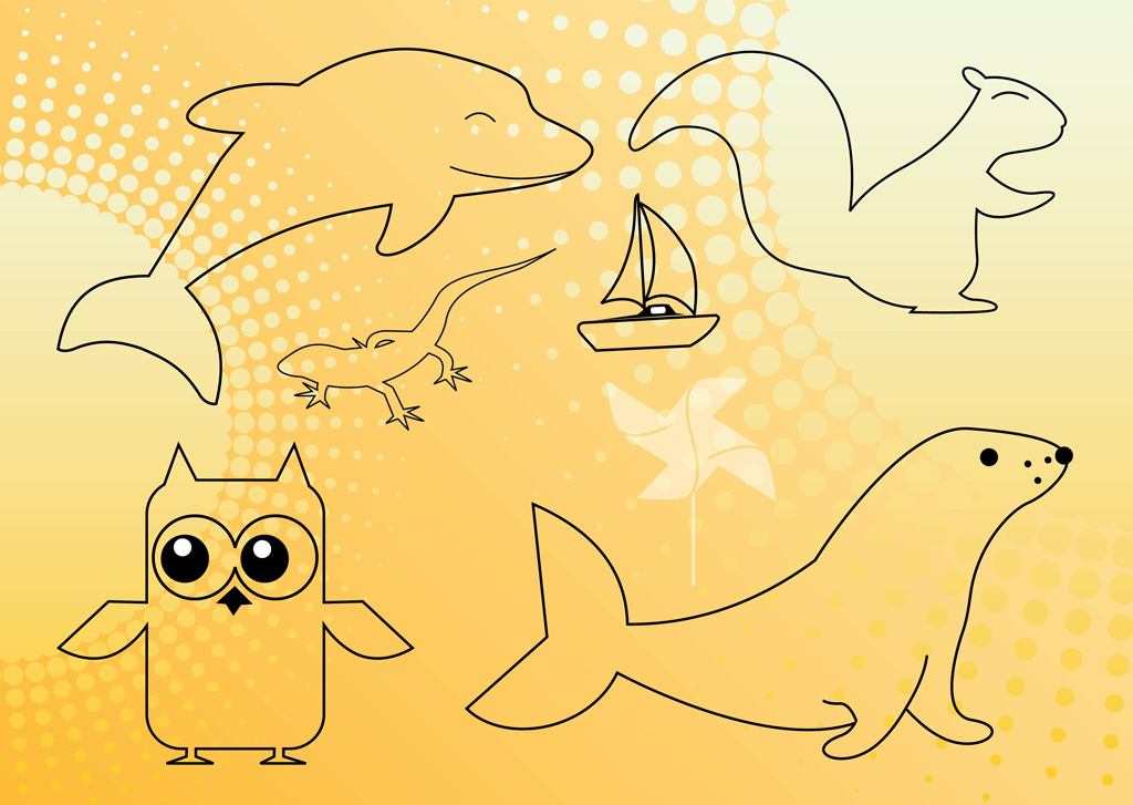 Animals Outline Graphics