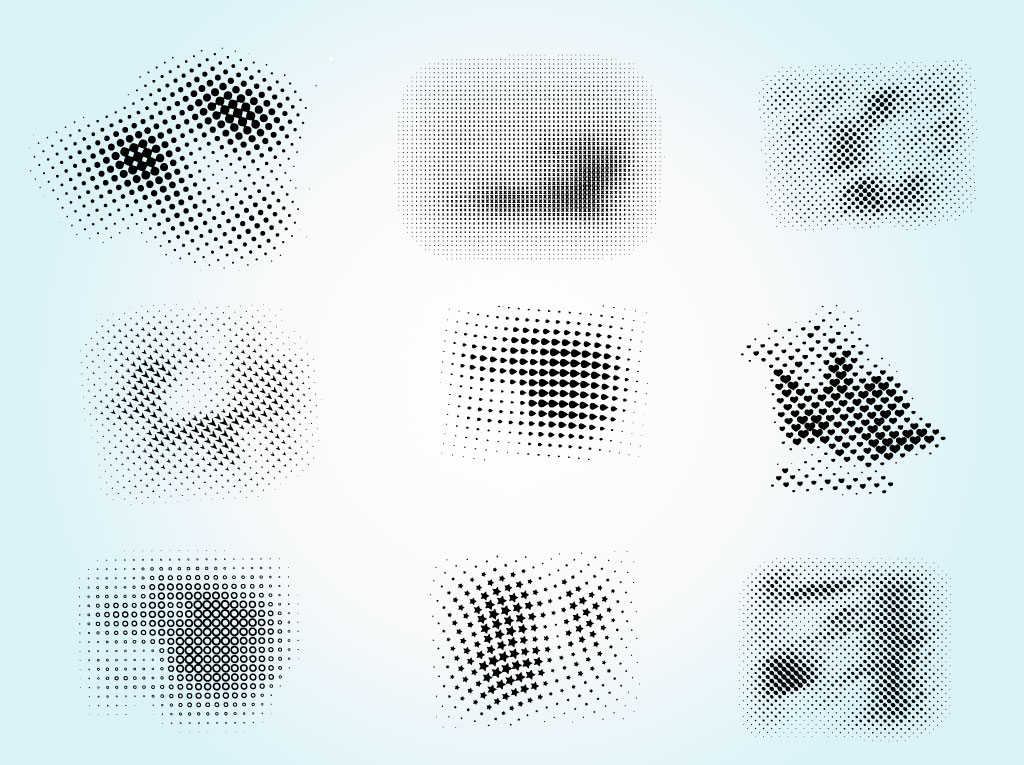 Halftone Brush Vectors