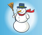 Vector Snowman Drawing