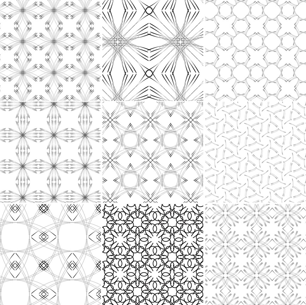 Line Drawing Patterns : Line patterns vector art graphics freevector