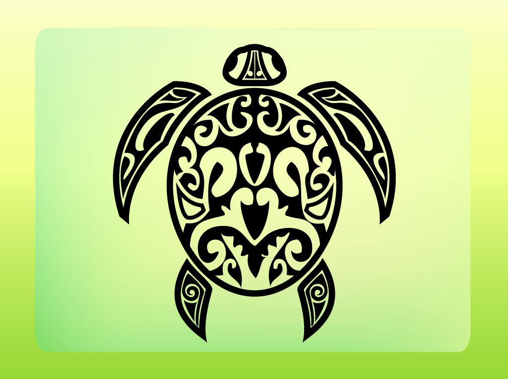 Turtle Shell Vector Turtle Tattoo Vector