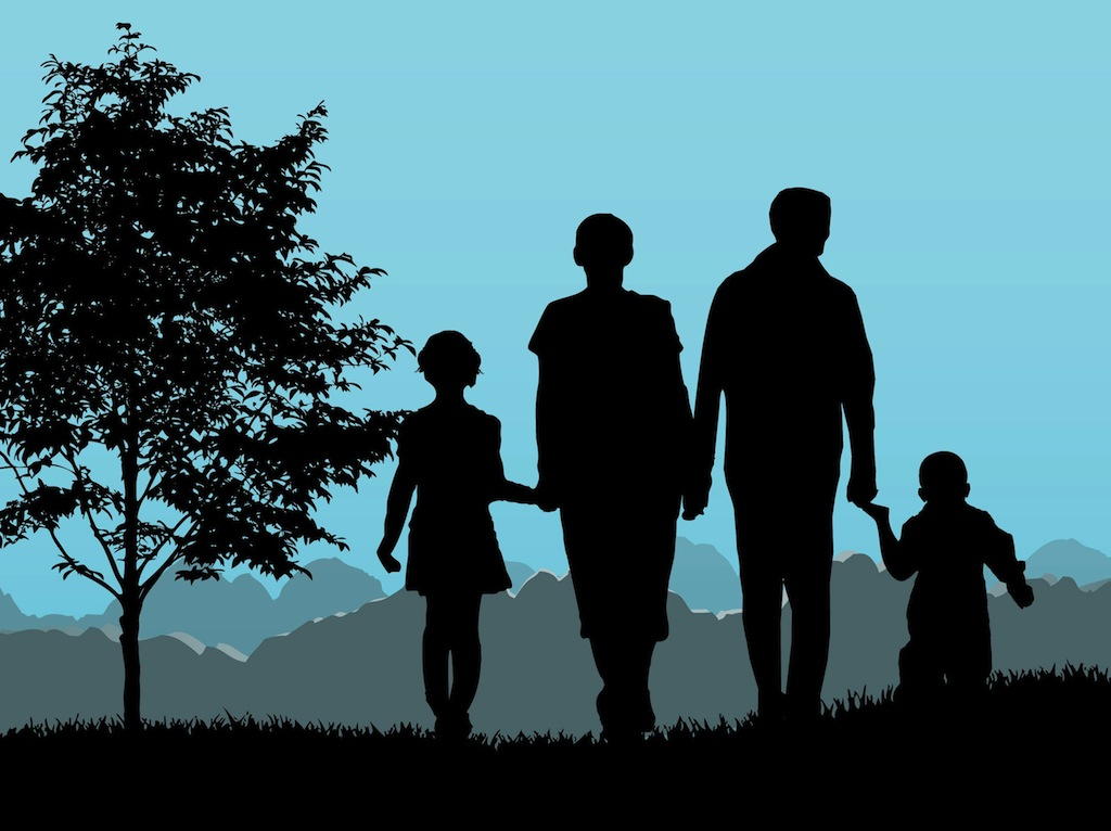 Gay Family Free Vector Art licensed under creative commons
