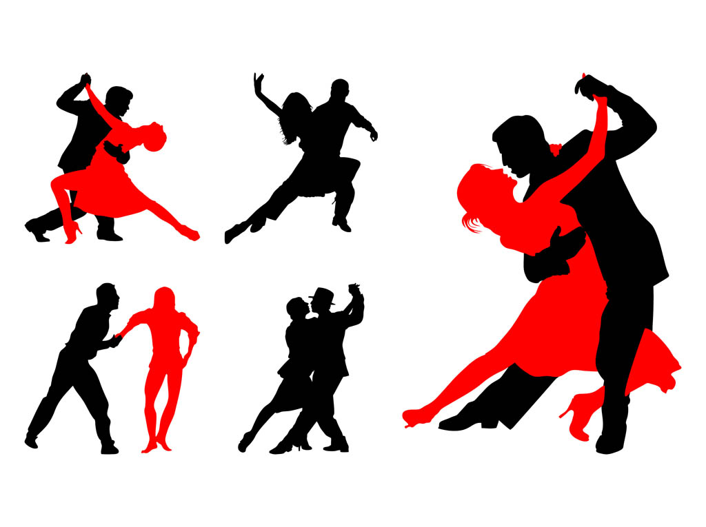 free dancer silhouettes