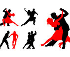 Dancing Couples Silhouettes