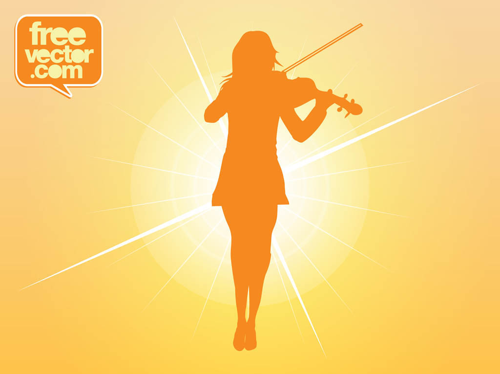 Violin Girl Vector