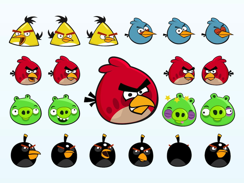 Angry Birds Cha... Gaming Logos For Free