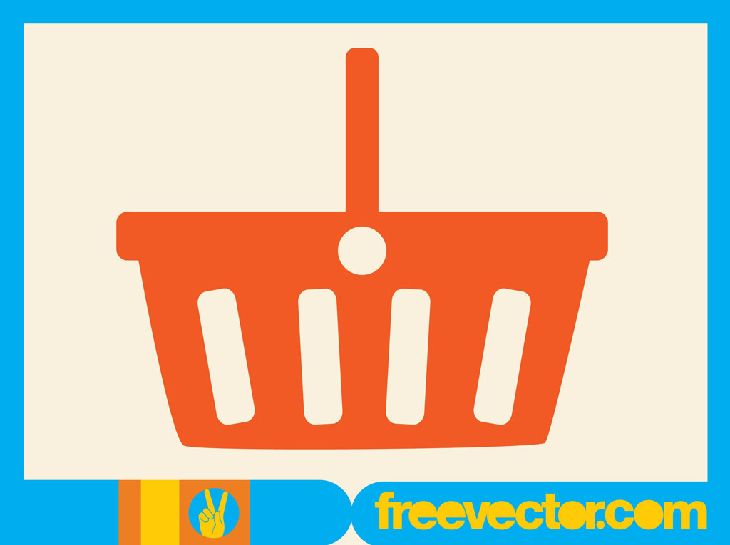 Vector Clipart Shopping Basket : Ping basket vector art graphics freevector