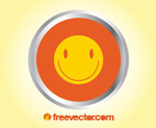 Smiley Badge Vector