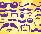 Beards Moustaches Vectors