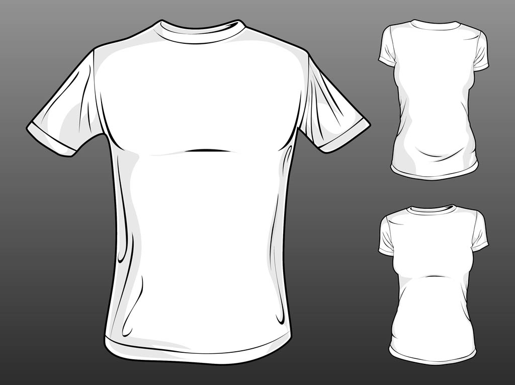 Vector T Shirt Templates Vector Art & Graphics | freevector.com
