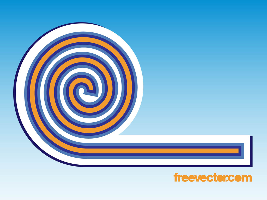 Spiral Badge Clip Art