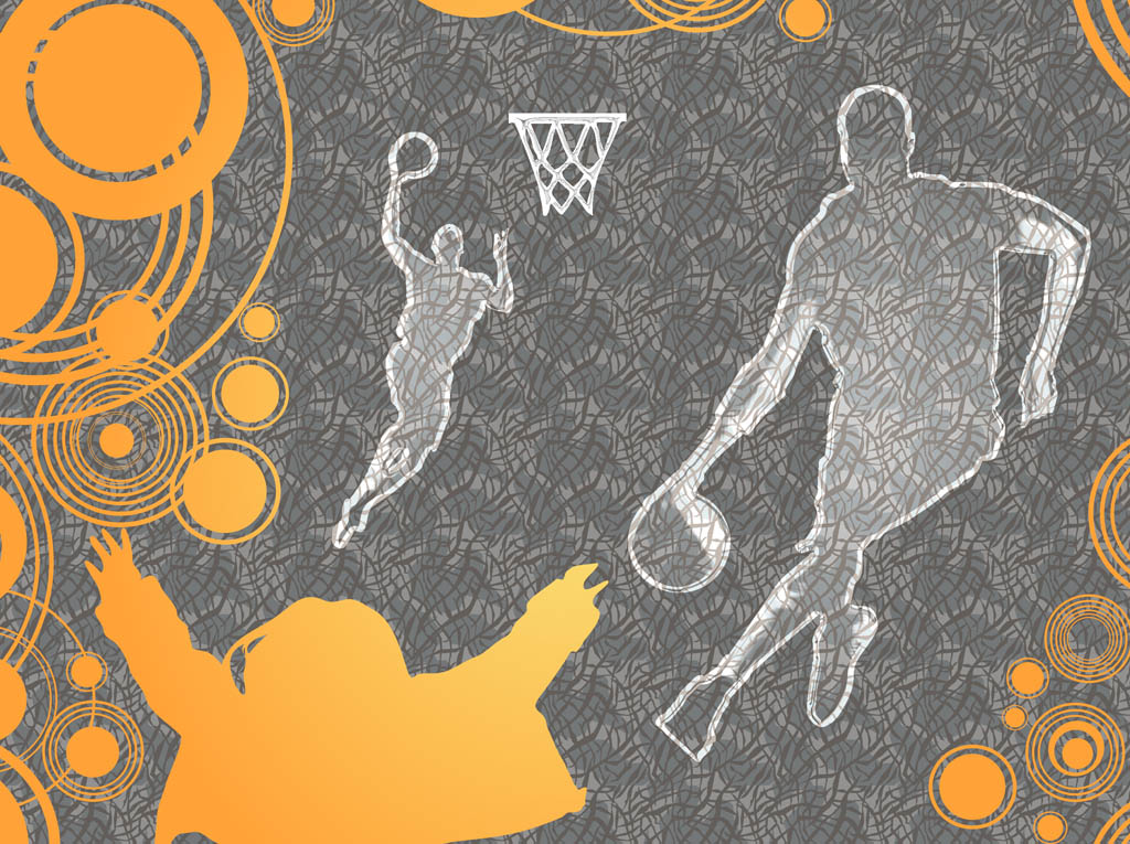 Pattern For Sport Wallpaper: Basketball Background Vector Vector Art & Graphics