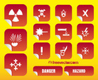 Hazard Stickers Vectors